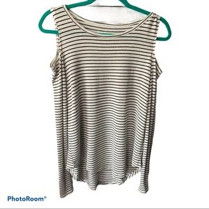 Hollister must have striped cold shoulder small
